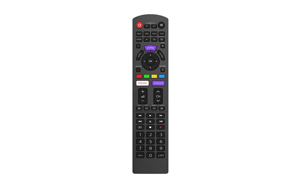 Mando a distancia de repuesto para televisores PANASONIC
