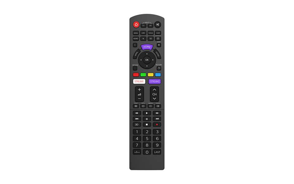 Substituir o telecomando de televisor PANASONIC