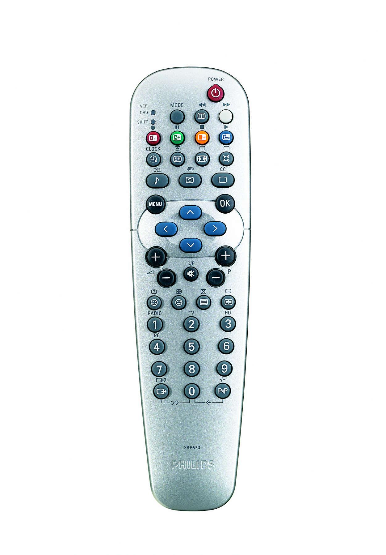 TV-készüléke távvezérlése újra az Ön kezében van!