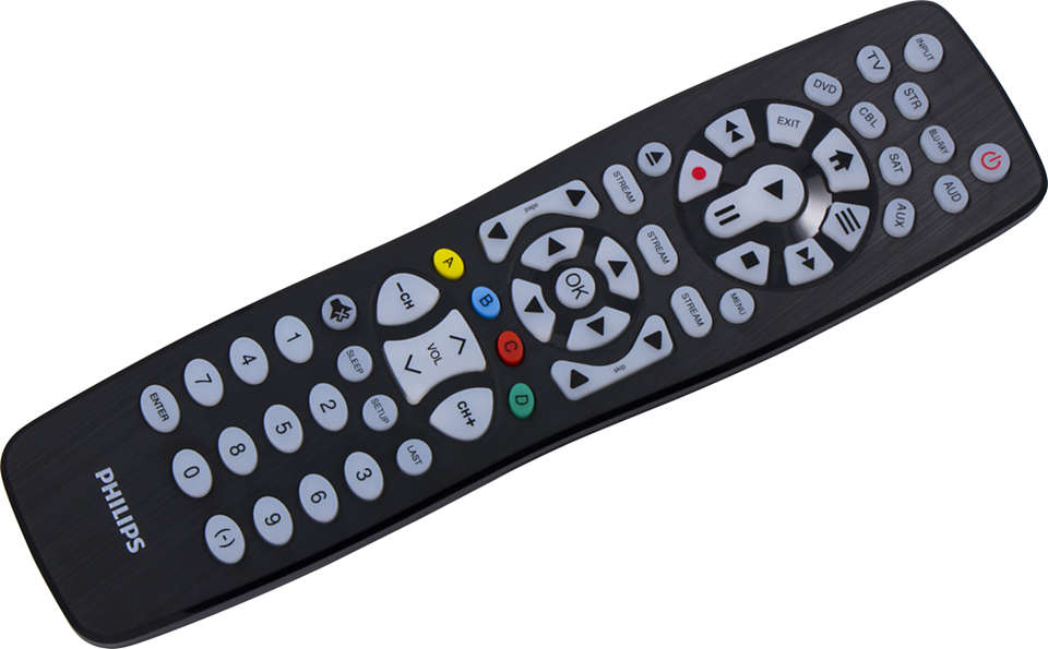 8 Device Universal Remote Control, Backlit