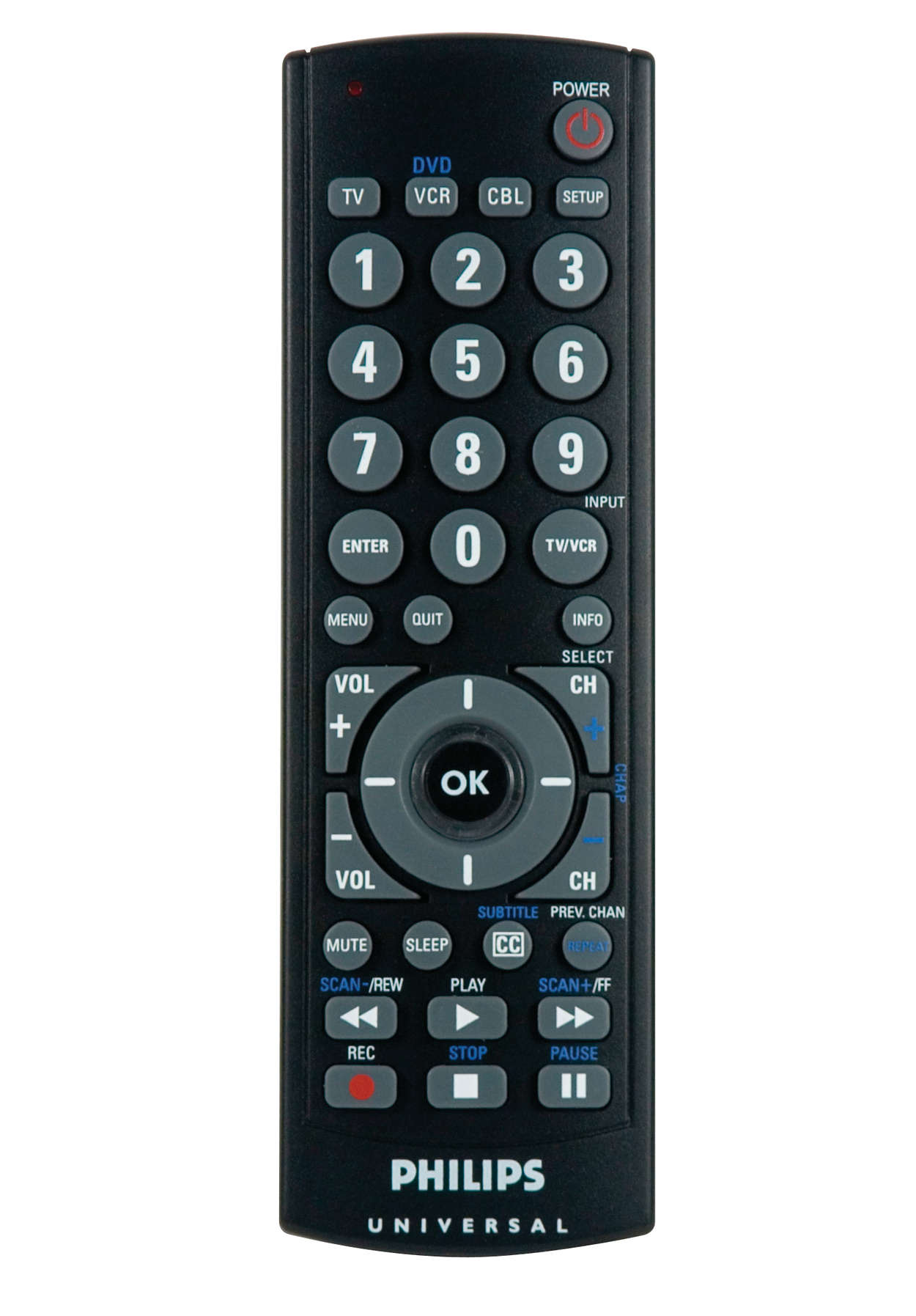 Control remoto universal para 3 dispositivos