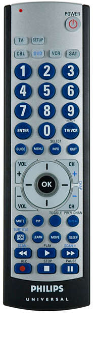 5 device universal learning remote
