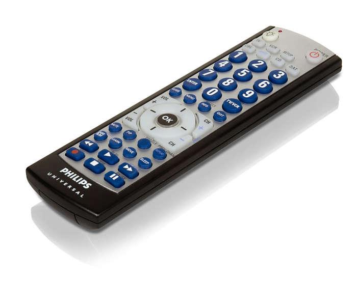 Télécommande programmable pour 6appareils