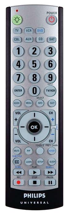 Control remoto para 7 dispositivos con luz en la parte posterior