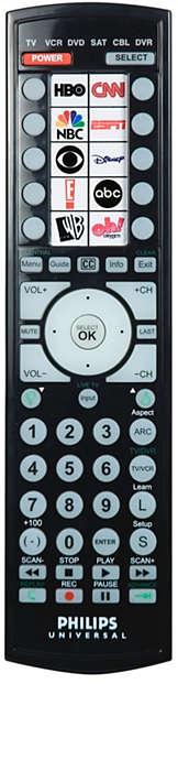 Télécommande universelle avec icônes