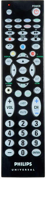 8 device universal remote