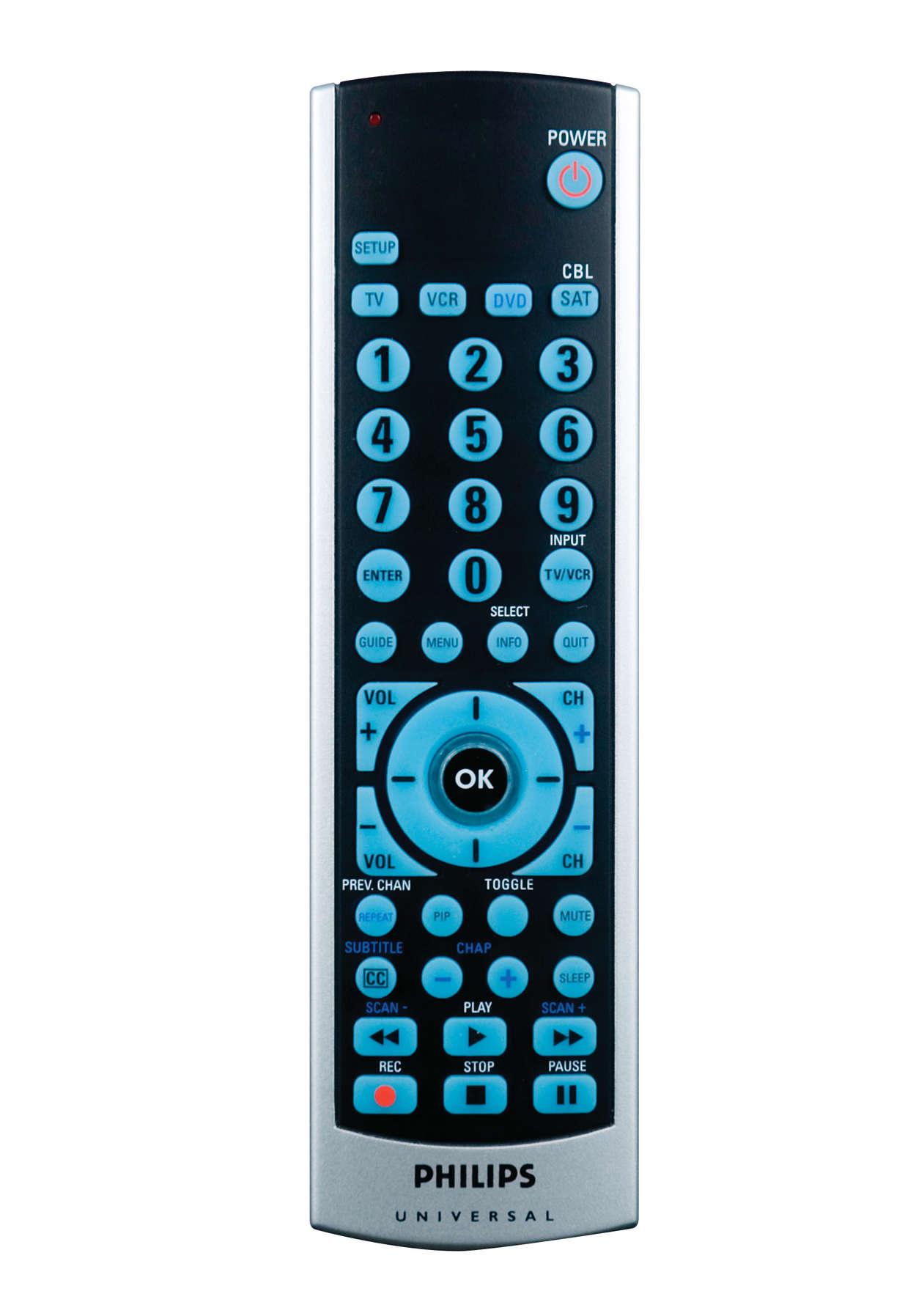 Funções avançadas de DVD e receptor por satélite