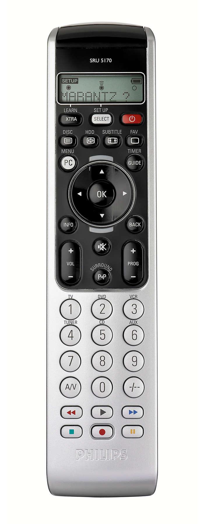 Configuración guiada mediante la pantalla LCD