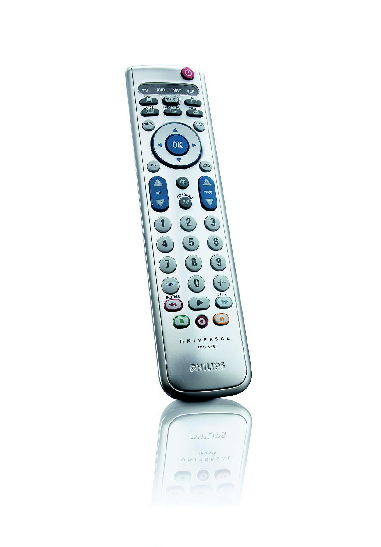 Universal remote control SRU540/10   Philips