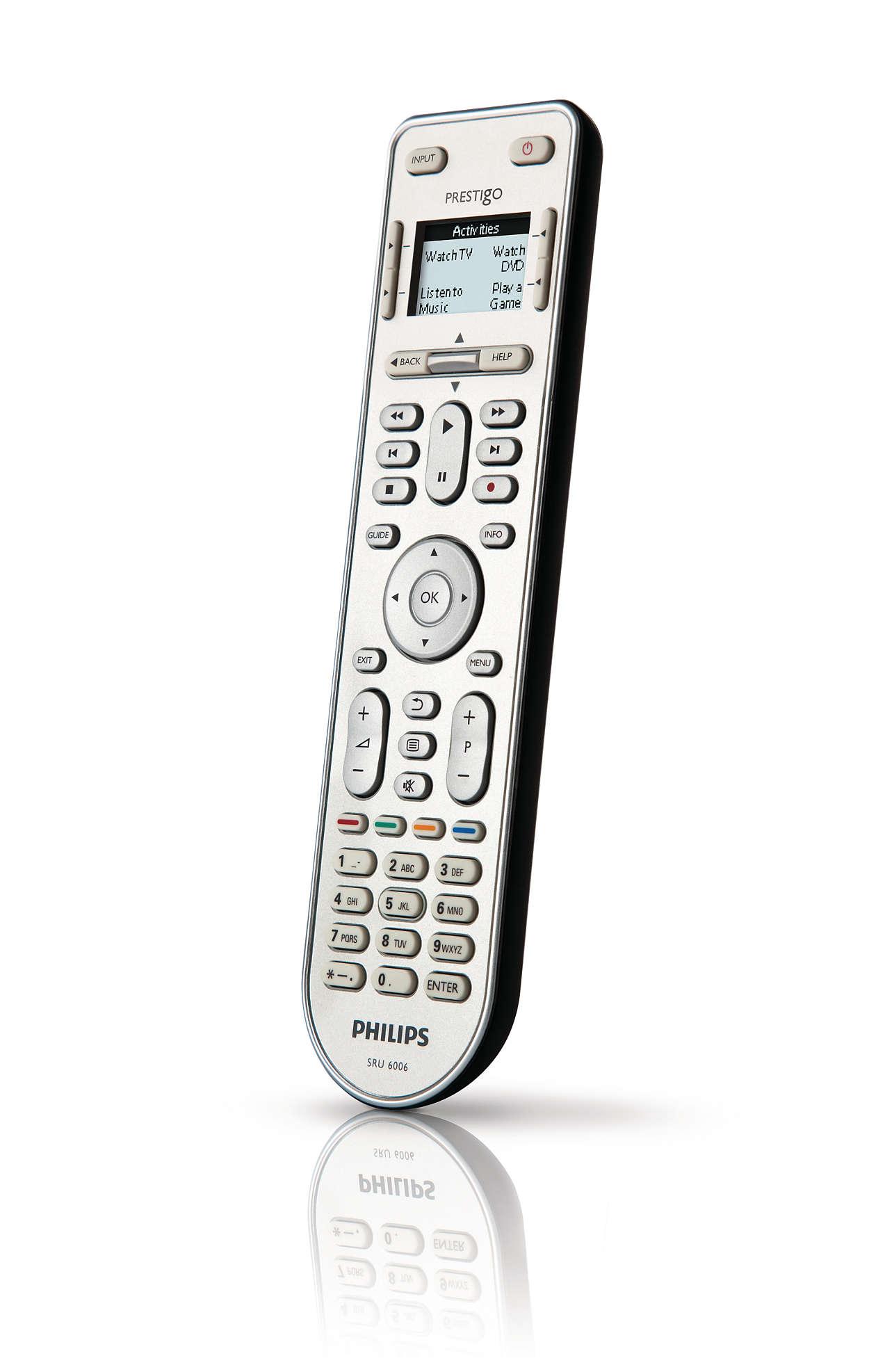 Prestigo Universal remote control SRU6006/10 | Philips