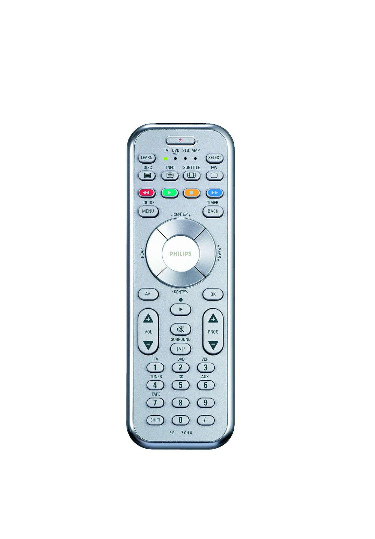 Control del entretenimiento en casa