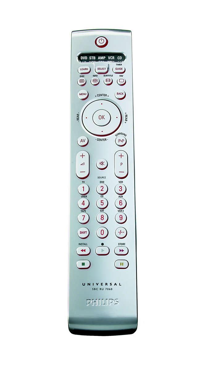 Sterowanie domowym zestawem audiowizualnym