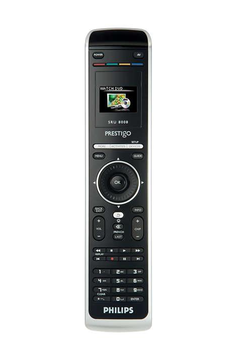 Une seule télécommande pour une vaste palette de fonctionnalités