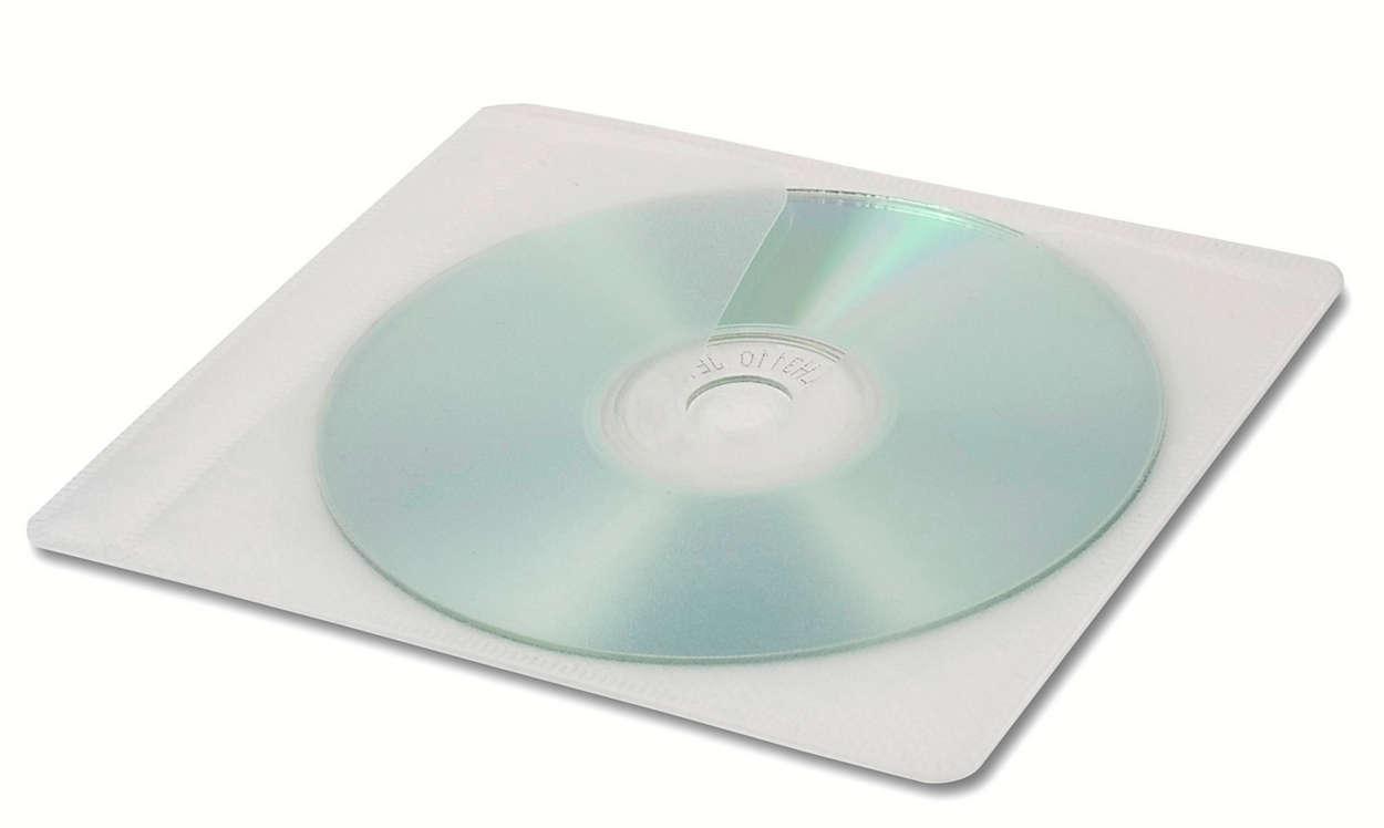 Cubiertas protectoras para CD y DVD