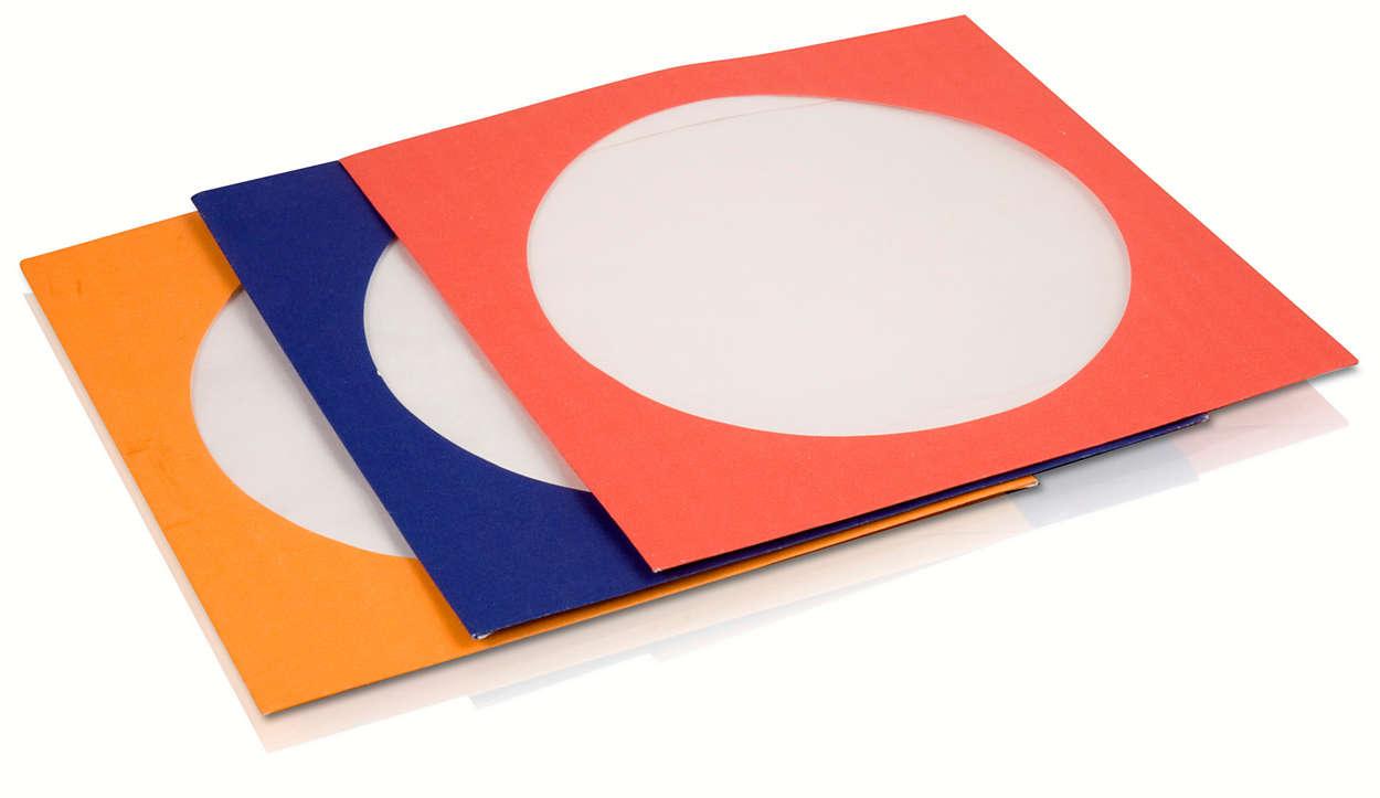 Защитные конверты для CD и DVD