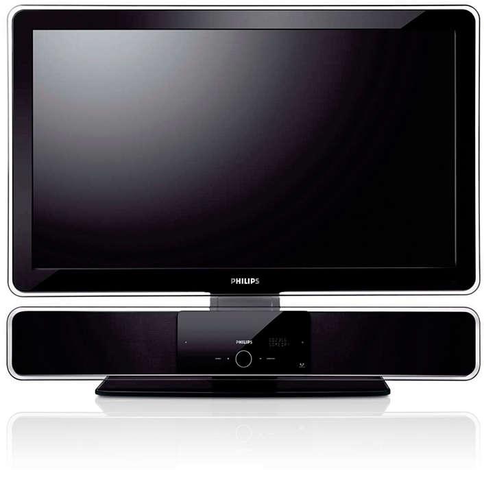 Conceput special pentru sistemul SoundBar şi flat TV