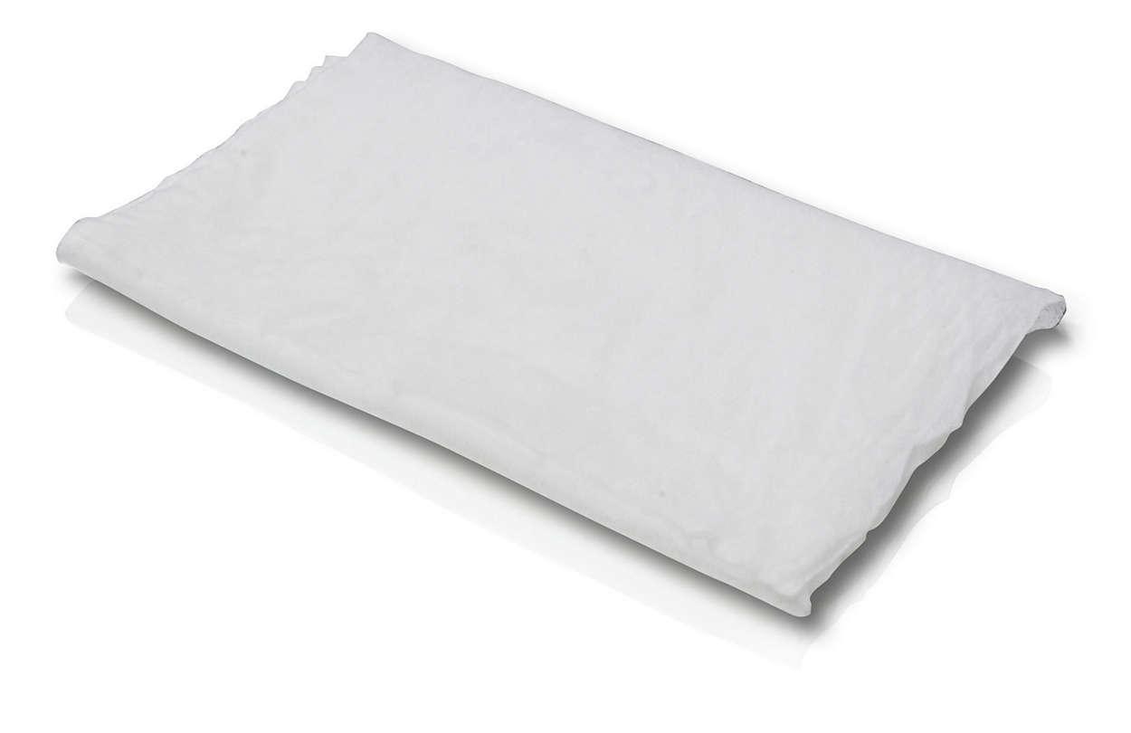 Limpa a tela com rapidez e facilidade