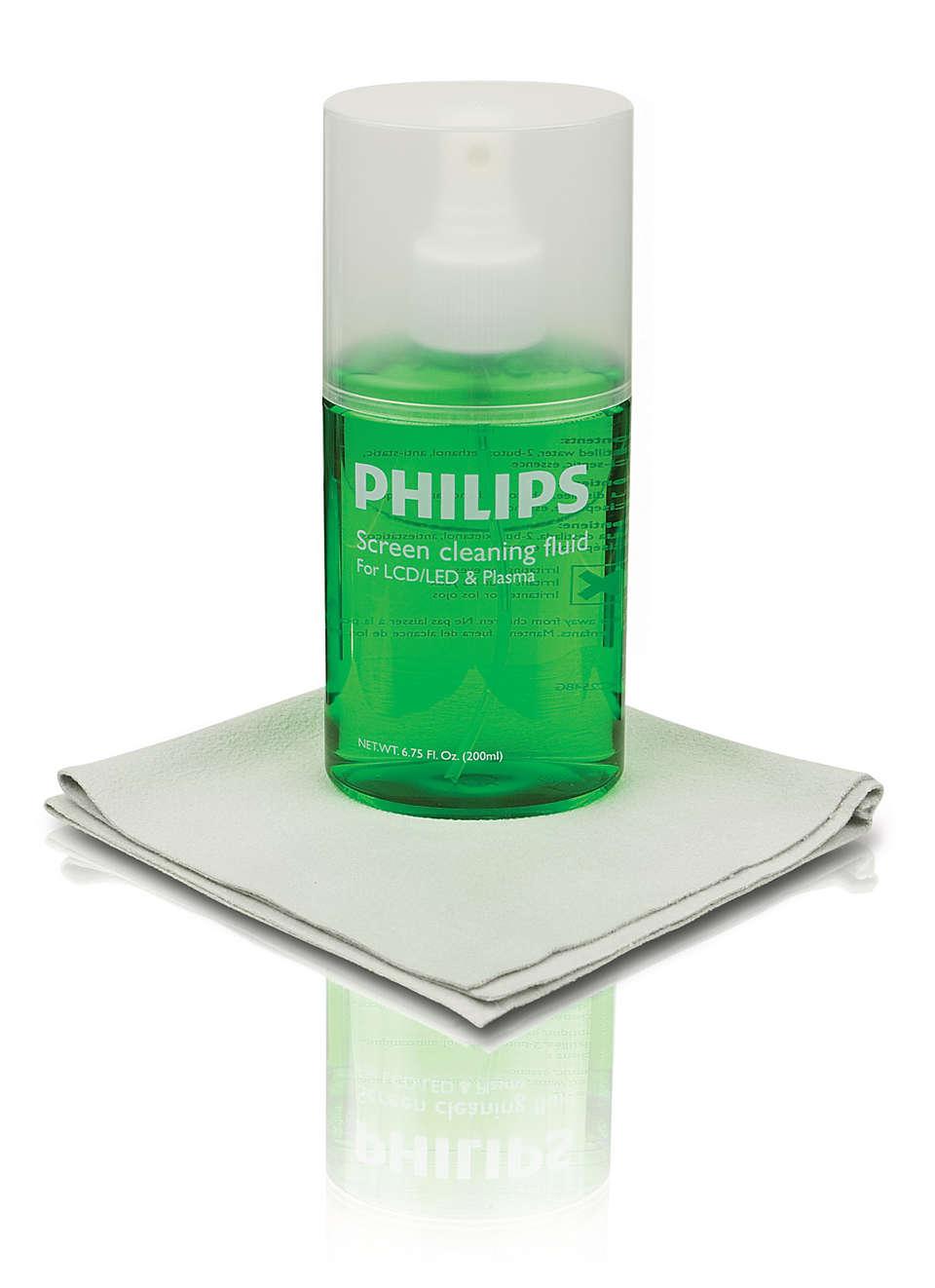 Permet de nettoyer les écrans plats en toute sécurité