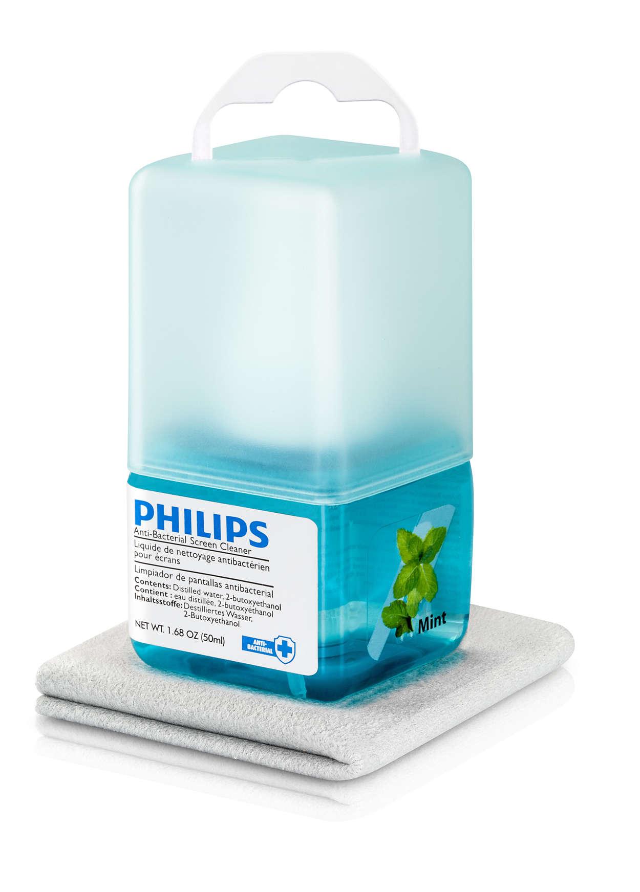 Limpiador para pantallas aromatizado