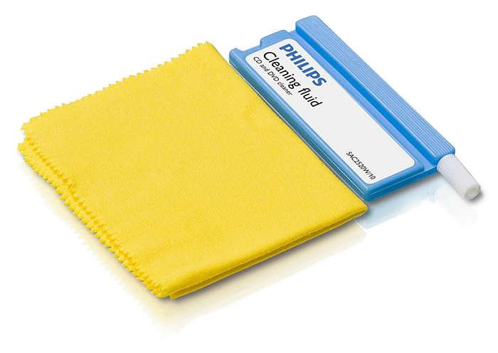 Säker rengöring av CD- och DVD-skivor