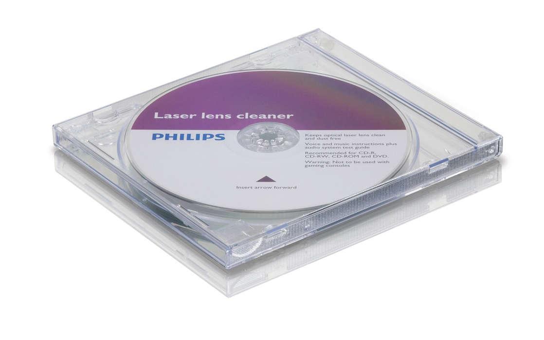Nettoie et protège votre lecteur CD/DVD