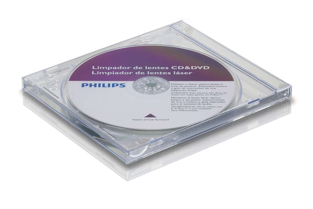 Cleans and protects your CD/DVD player