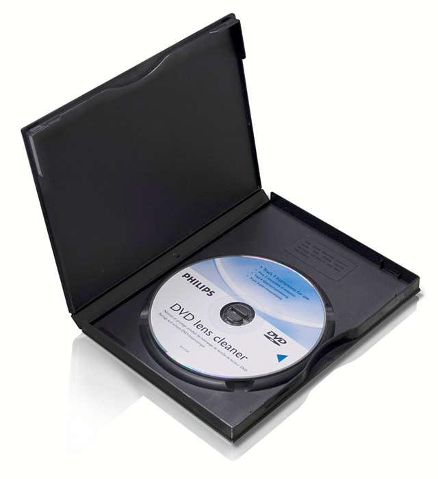 Puhdista ja suojaa DVD-laitteesi