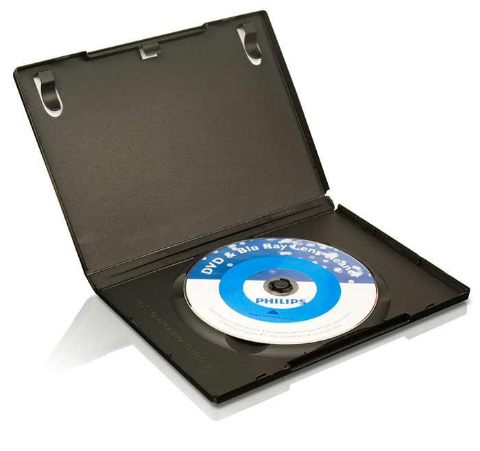 Rengjør og beskytt DVD- og Blu ray-spillerne