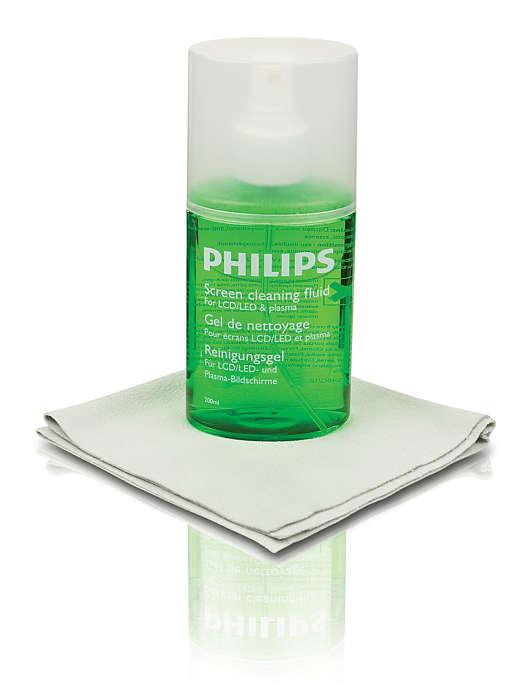 Bezpieczne czyszczenie ekranu telewizora plazmowego lub LCD/LED