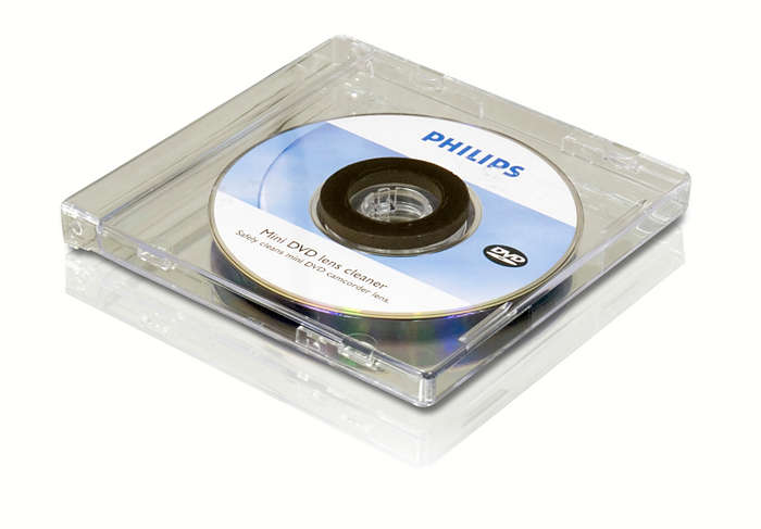Limpe a lente da sua mini câmara de vídeo DVD