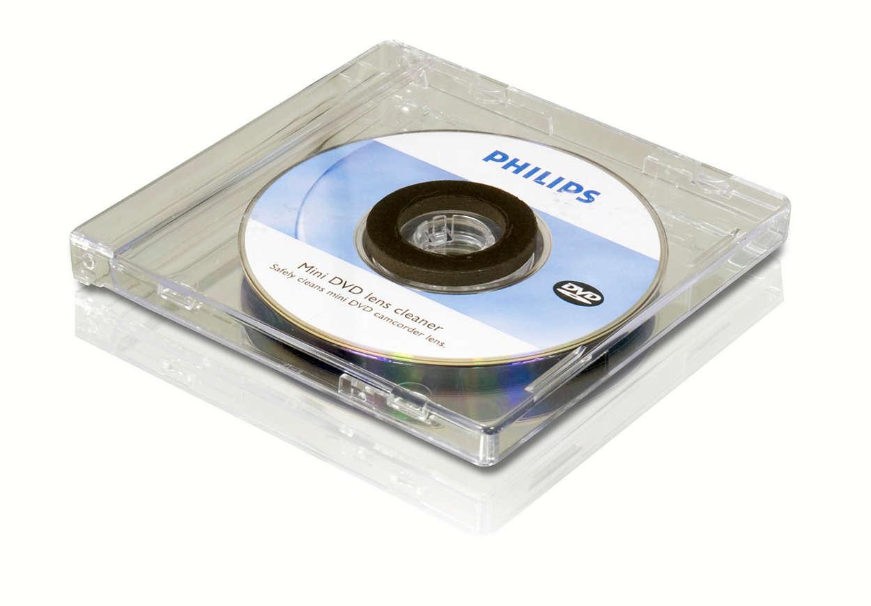 Curăţaţi-vă lentilele mini DVD-ului