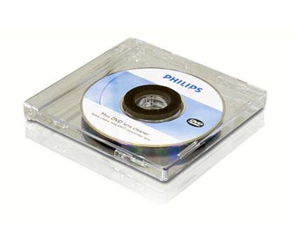 Vyčistite si mini DVD optiku