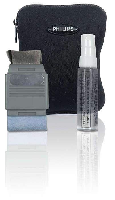 Zapewnia bezpieczne czyszczenie ekranów GPS