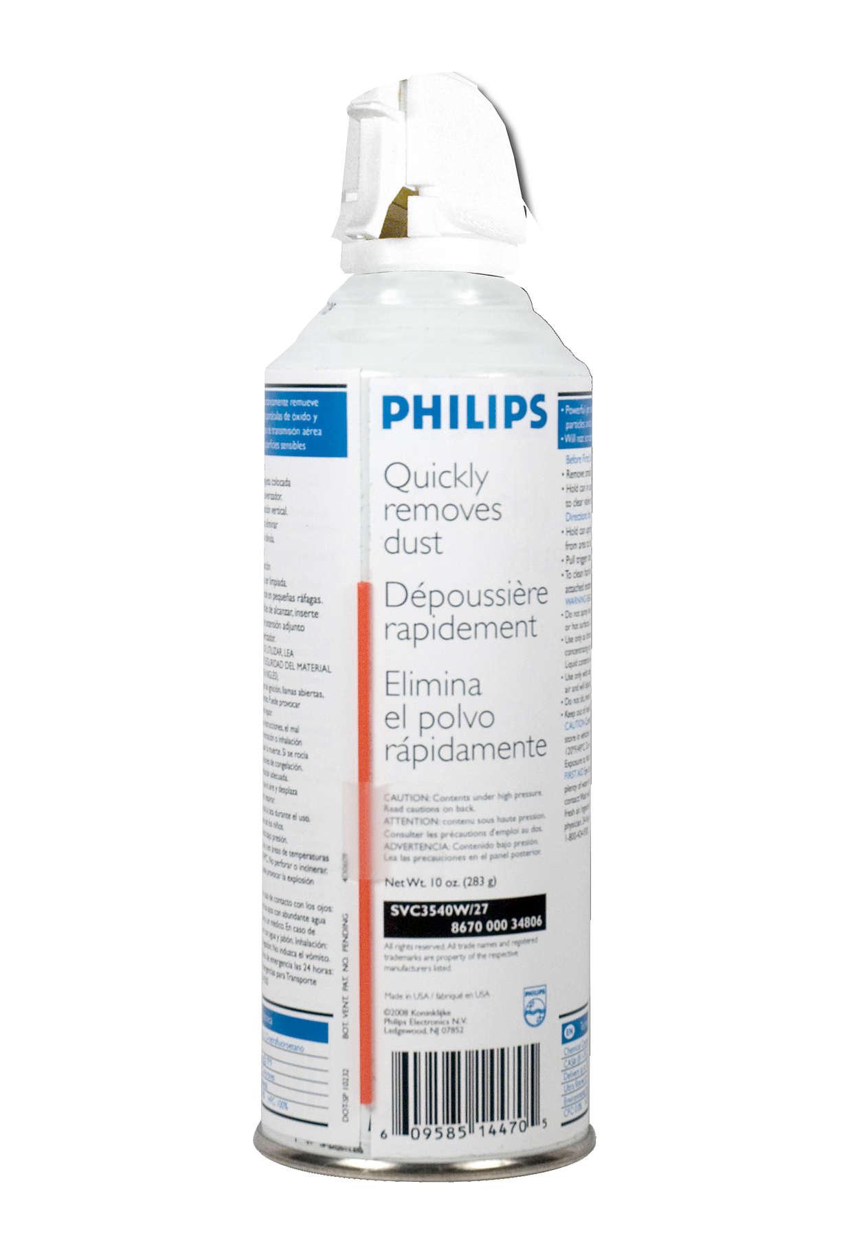 Elimina el polvo con rapidez y seguridad