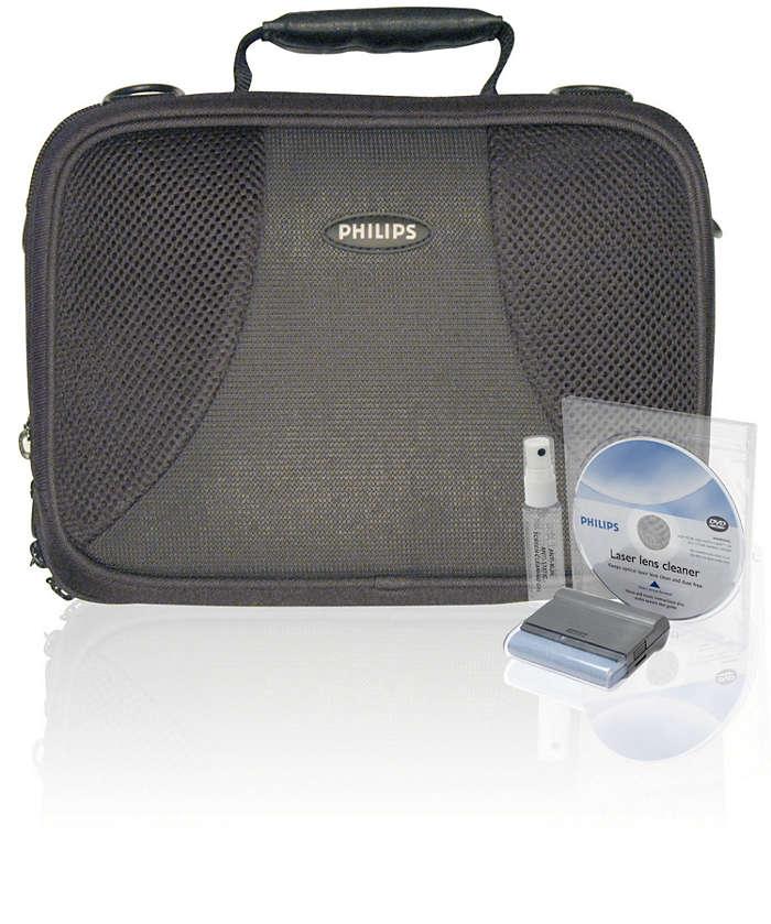 Beveilig uw DVD-speler onderweg