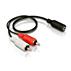 Stereo Y-kabel