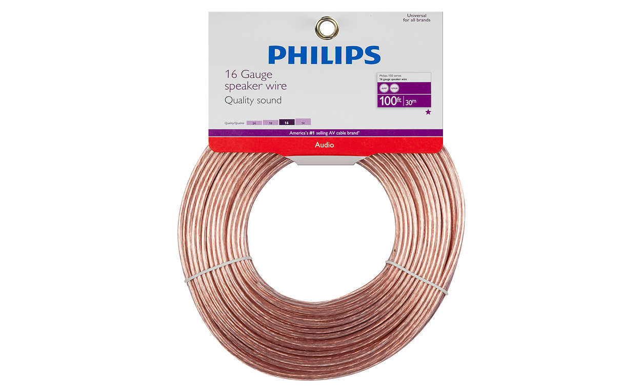 Speaker Wire Swa2427h 17 Philips Audio Cable Wiring Turn Up Your Listening Experience