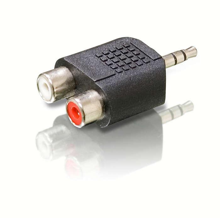 Nodrošiniet kvalitatīvu audio savienojumu,