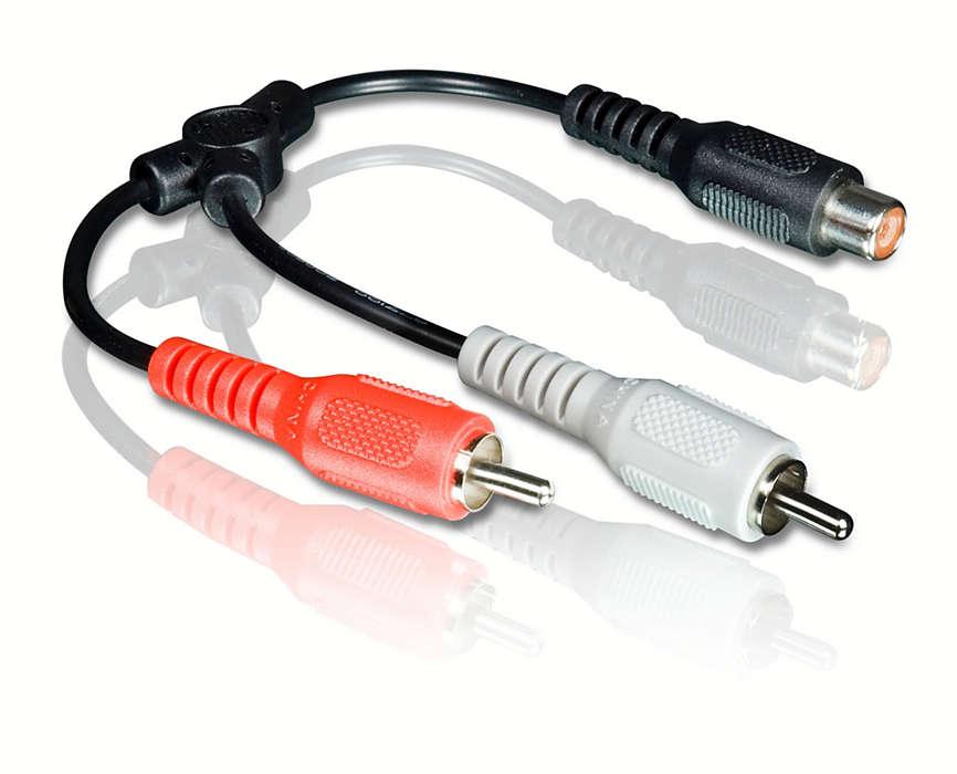 Verzeker u van een betrouwbare audioaansluiting