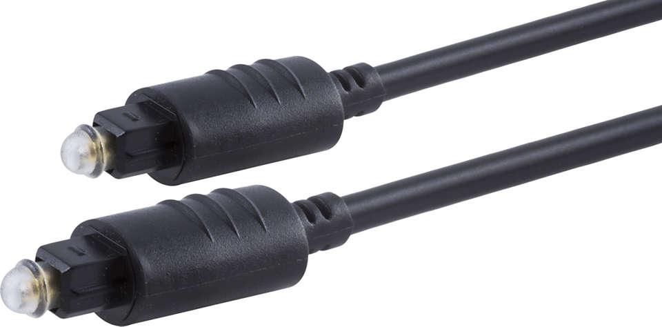Transmits superior sound between AV components