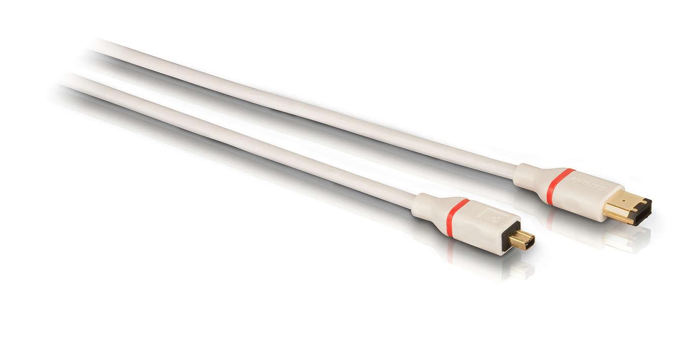 Connectez des périphériques FireWire IEEE1394a