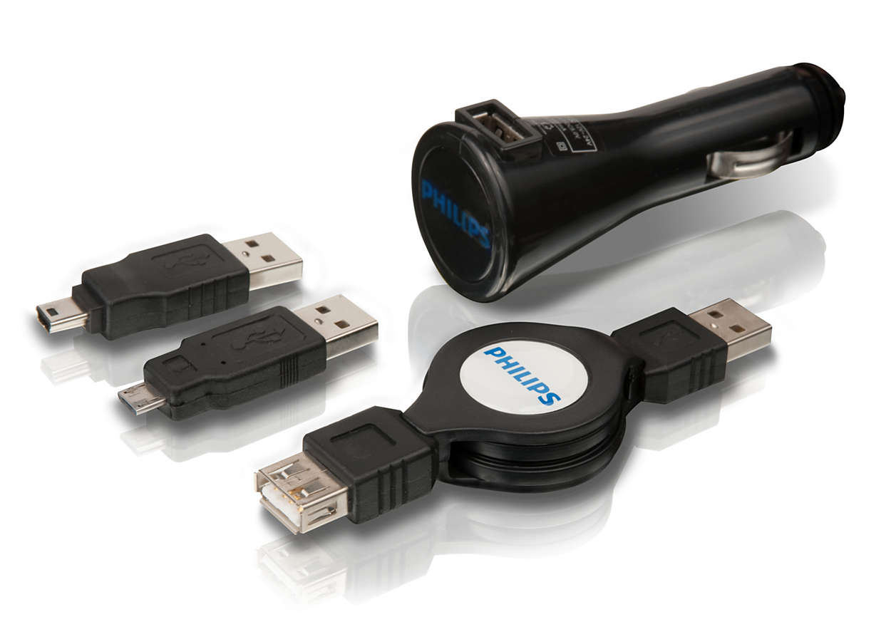 Carga los dispositivos USB