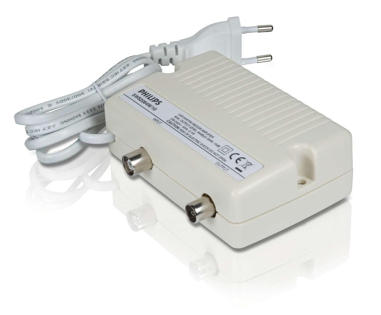 Amplificador de se al de tv sws2064w 10 philips - Amplificador senal tv ...