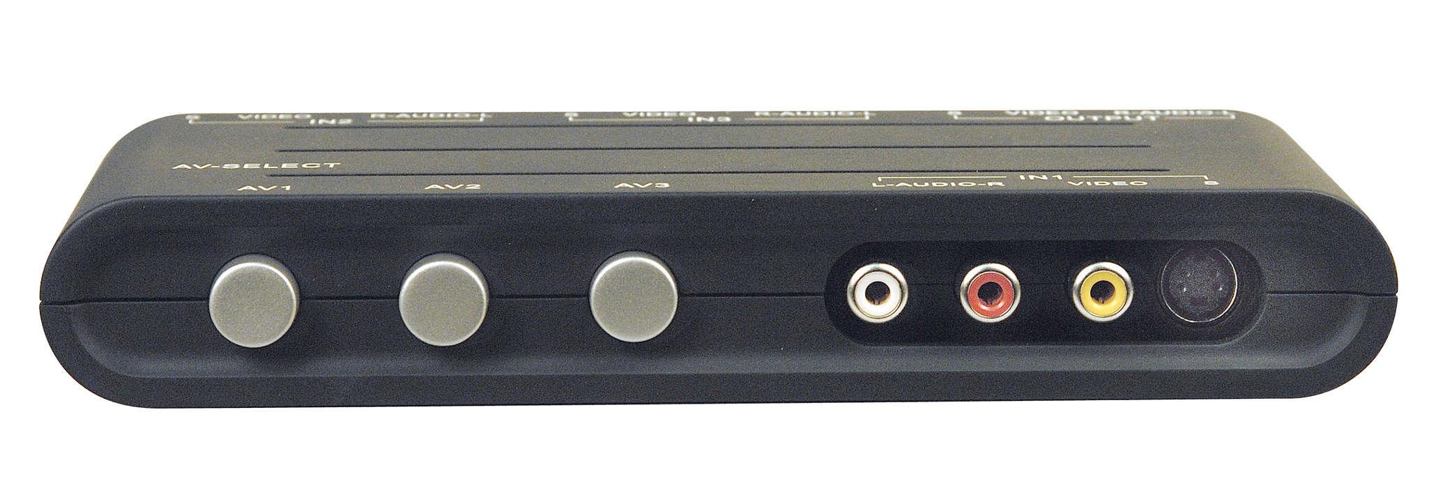 Connectez trois appareils à un téléviseur