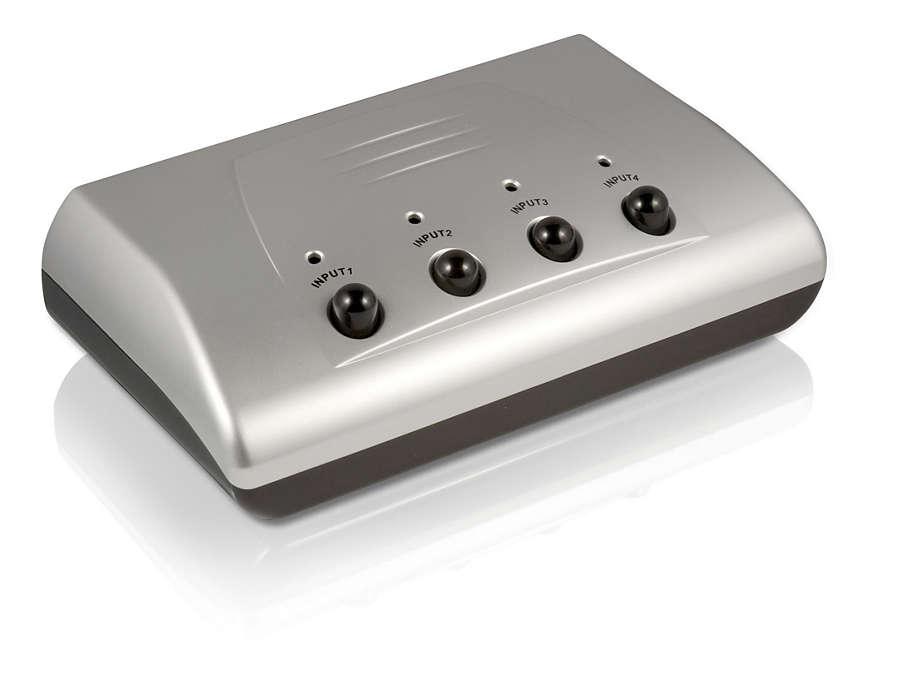 Conecta hasta 4 componentes
