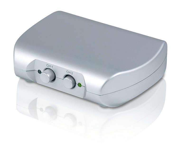 Przełączanie między dwoma źródłami HDMI.