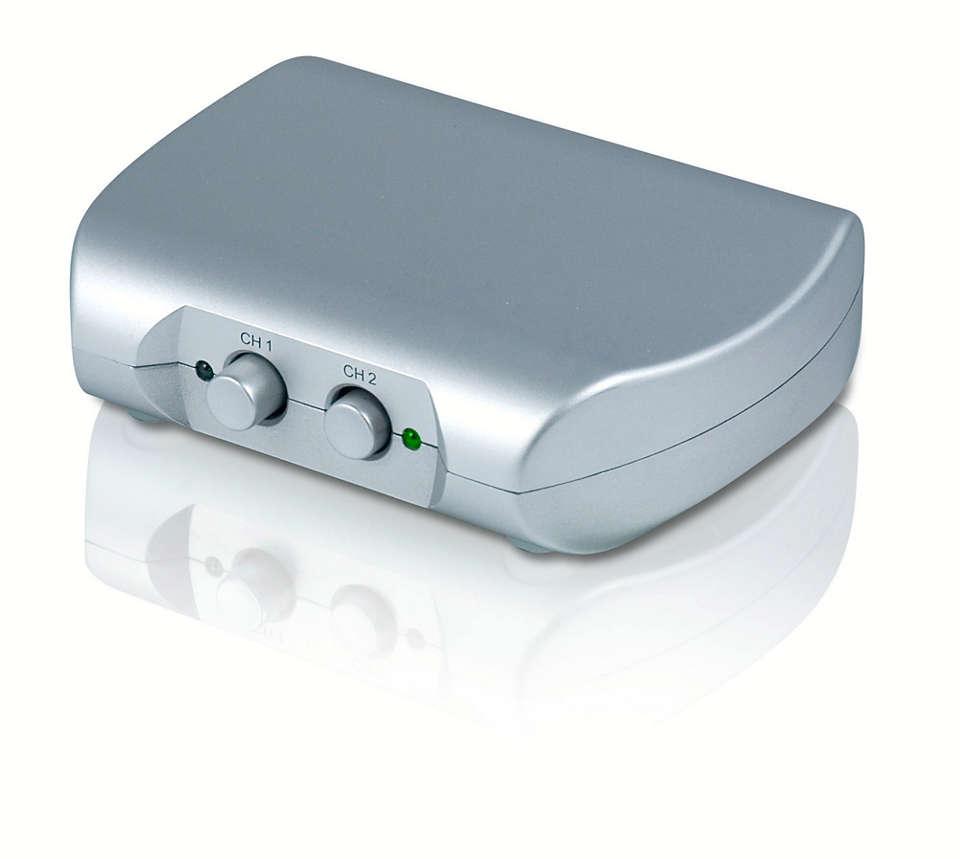 Schakelen tussen twee HDMI-bronnen