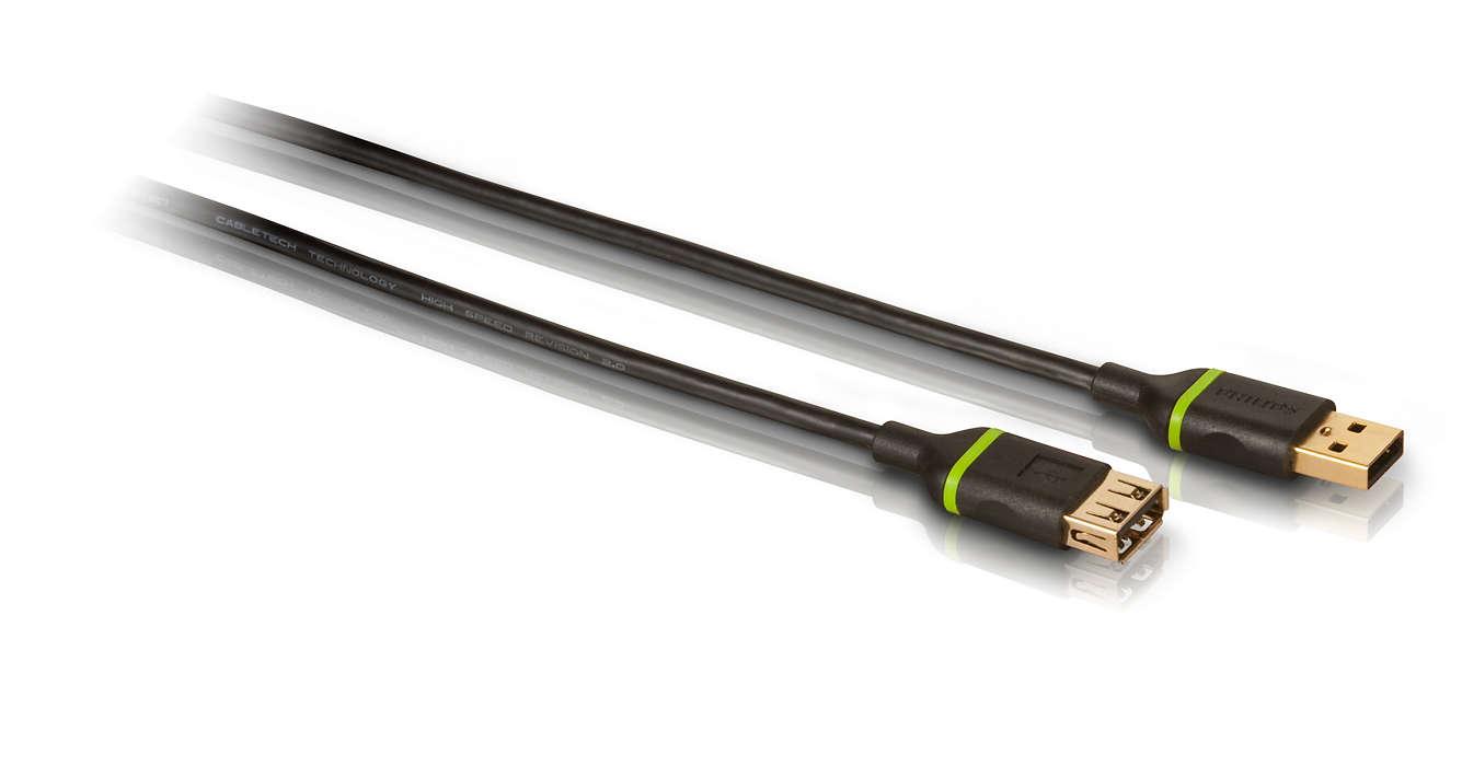 Extiende el alcance de una conexión USB existente