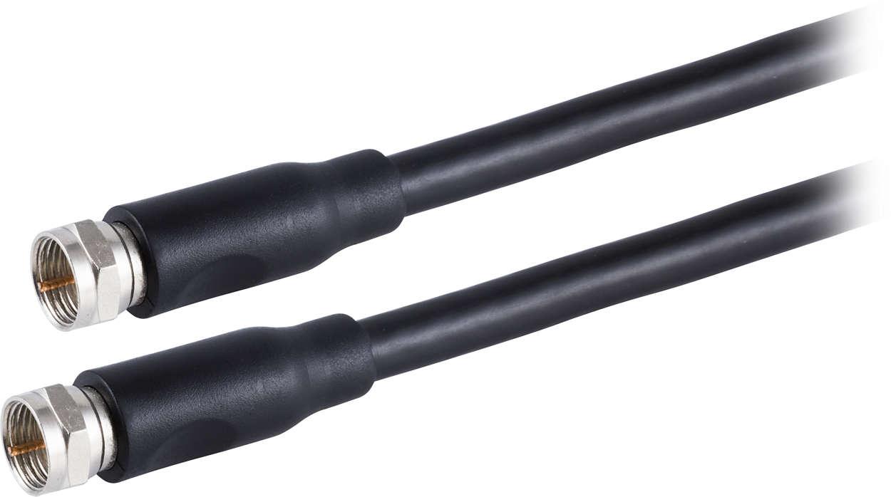 Câble coaxial RG6 pour audio et vidéo