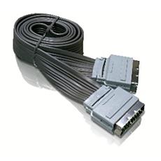 SWV2542/10  Flat Scart-kabel